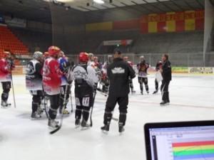Trainingssteuerung mit acentas beim Eishockey