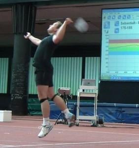 Pulsmessung beim Badminton